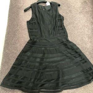 Parker LBD size M black A-line mesh dress